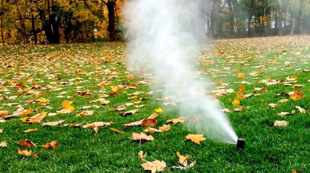 Winterization blow out island irrigation